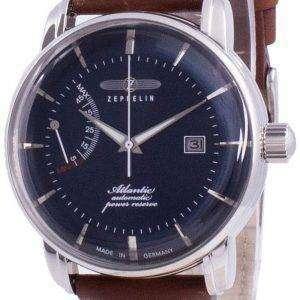 Zeppelin Atlantik Blue Dial Leather Strap Automatic 8462-3 84623 Men's Watch
