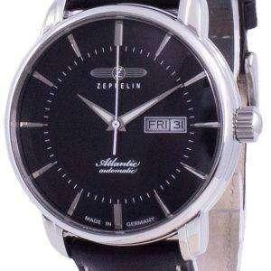 Zeppelin Atlantik Black Dial Leather Strap Automatic 8466-2 84662 Men's Watch