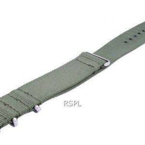 Ratio Nato9 Green Nylon Strap 22mm