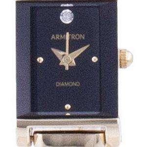 Reloj para mujer Armitron Black Dial Diamond Accents Quartz 755322BKGP