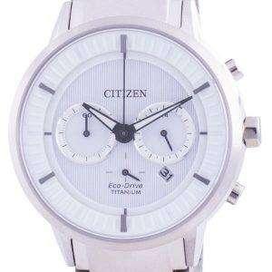 Reloj Citizen Super Titanium White Dial Eco Drive CA4400-88A 100M para hombre
