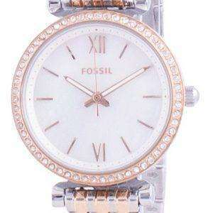 Fossil Carlie Mini Diamond Accents Quartz ES4649 Reloj para mujer