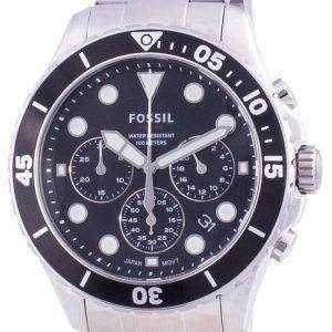 Fossil FB-03 Cronógrafo de acero inoxidable de cuarzo FS5725 100M Reloj para hombre