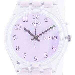 Swatch Ultrarose White Dial Silicone Strap Quartz GE714 Reloj para hombre