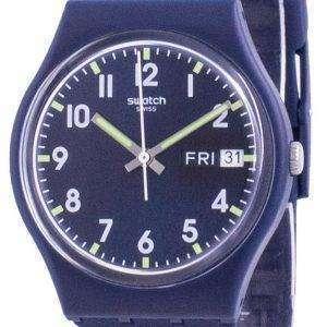 Swatch Ultralavande Purple Dial Silicone Strap Quartz GE718 Reloj para hombre
