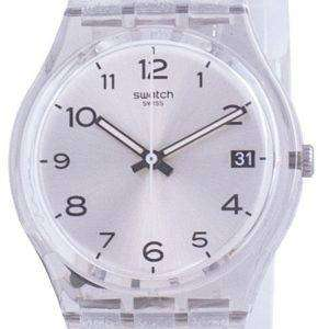Swatch Silverblush Silver Dial Correa de silicona Cuarzo GM416C Reloj para hombre