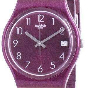 Swatch Redbaya Reloj para hombre con correa de silicona y esfera roja GR405