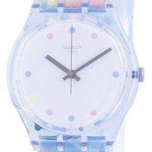 Swatch Bordujas Reloj de mujer con correa de silicona y esfera blanca GS159