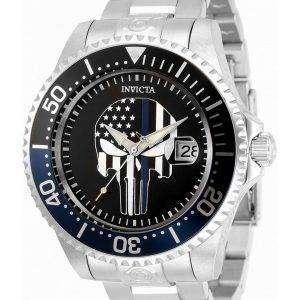 Invicta Pro Diver Skull Black Dial Automatic 31928 300M Reloj para hombre