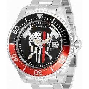 Invicta Pro Diver Skull Black Dial Automatic 31929 300M Reloj para hombre