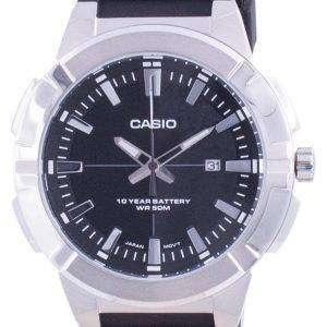 Reloj Casio analógico con esfera negra y resina MTP-E172-1A MTPE172-1 para hombre