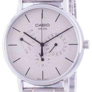 Reloj Casio de cuarzo de acero inoxidable con esfera blanca MTP-E320D-9E MTPE320D-9 para hombre