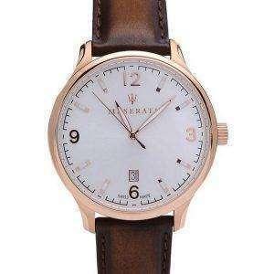 Maserati Attrazione White Dial Quartz R8851126002 100M Reloj para hombre