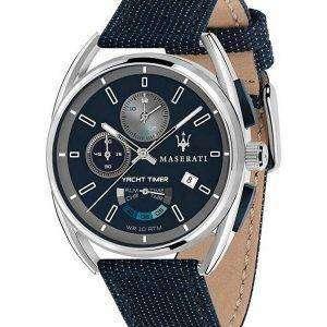 Maserati Trimarano Yacht Timer Chronograph Quartz R8851132001 100M Reloj para hombre