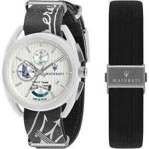 Maserati Trimarano Yacht Timer Chronograph Quartz R8851132002 100M Reloj para hombre