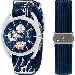Maserati Trimarano Yacht Timer Chronograph Quartz R8851132003 100M Reloj para hombre