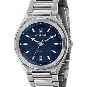 Reloj Maserati Triconic Blue Dial Quartz R8853139002 100M para hombre