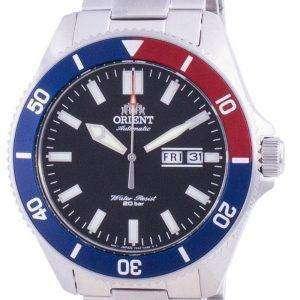 Reloj para hombre Orient Black Dial de acero inoxidable automático RA-AA0912B19B 200M