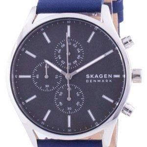 Skagen Holst cronógrafo correa de cuero de cuarzo SKW6653 reloj para hombre