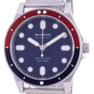 Reloj Skagen Fisk de acero inoxidable con esfera azul y cuarzo SKW6668 100M para hombre