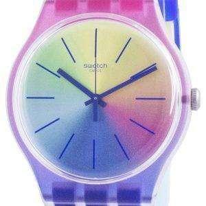 Reloj Swatch Multiboost Multicolor Dial Correa de silicona de cuarzo SUOK143 para hombre