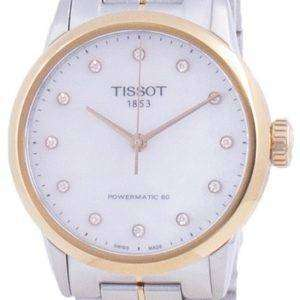 Tissot Luxury Lady Powermatic 80 Diamond Accents Automatic T086.207.22.116.00 T0862072211600 Reloj para mujer