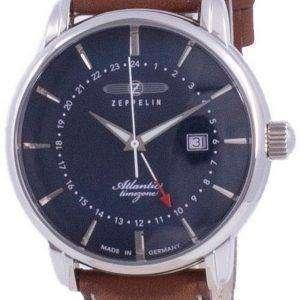 Zeppelin Atlantic Blue Dial Quartz 8442-3 84423 Reloj para hombre