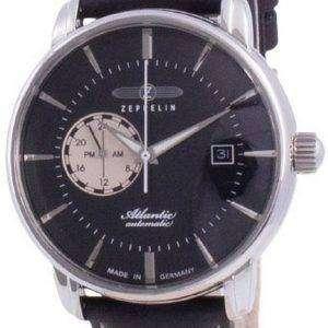 Zeppelin Atlantic Black Dial Automatic 8470-2 84702 Reloj para hombre