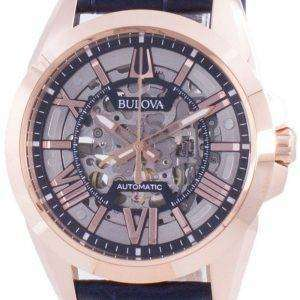 Reloj para hombre Bulova Sutton Automatic Skeleton Dial 97A161 100M