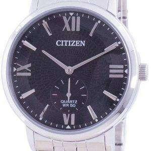 Reloj para hombre Citizen con esfera negra de acero inoxidable y cuarzo BE9170-72E