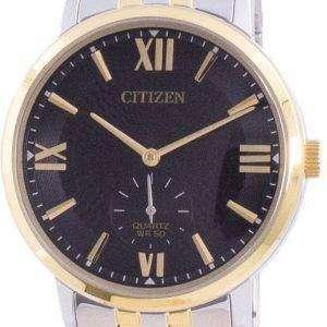 Reloj para hombre Citizen con esfera negra de acero inoxidable y cuarzo BE9176-76E