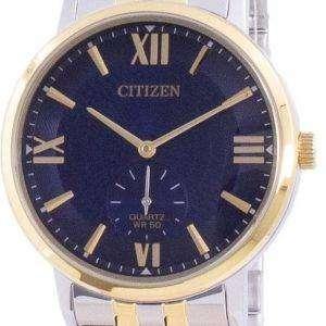 Reloj para hombre Citizen Blue Dial de acero inoxidable de cuarzo BE9176-76L