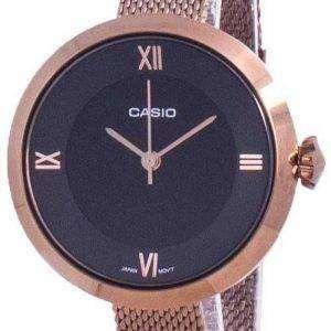 Reloj Casio Analog Black Dial LTP-E154MR-1A LTPE154MR-1A para mujer