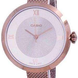 Reloj Casio analógico plateado LTP-E154MR-9A LTPE154MR-9A para mujer