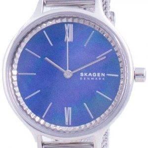 Skagen Anita azul nácar dial cuarzo SKW2862 reloj para mujer