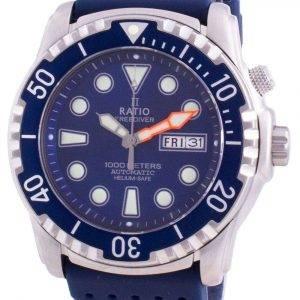Ratio Free Diver Helium-Safe 1000M Sapphire Automatic 1068HA90-34VA-BLU Reloj para hombre