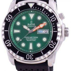 Ratio Free Diver Helium-Safe 1000M Sapphire Automatic 1068HA90-34VA-GRN Reloj para hombre