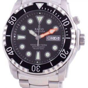 Ratio Free Diver Helium-Safe 1000M Sapphire Automatic 1068HA96-34VA-BLK Reloj para hombre