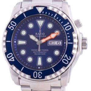 Ratio Free Diver Helium-Safe 1000M Sapphire Automatic 1068HA96-34VA-BLU Reloj para hombre
