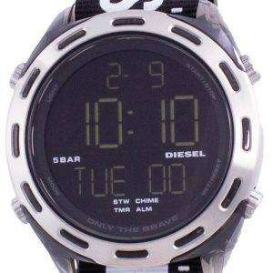 Reloj para hombre Diesel Crusher Digital Black Nylon Quartz DZ1914