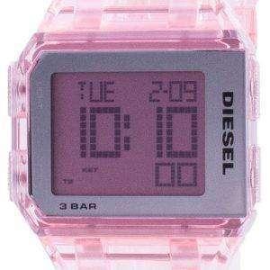 Reloj unisex Diesel Chopped Millennial rosa transparente de cuarzo DZ1920