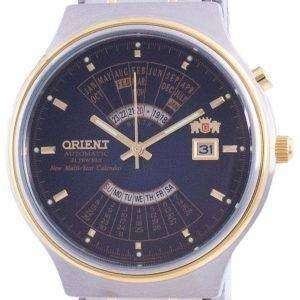 Orient Wide Multi-Year Calendar Blue Dial Automatic FEU00000D Herreur