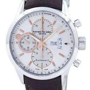 Reacondicionado Raymond Weil Geneve Freelancer Chronograph Automatic 7730-STC-65025 100M Reloj para hombre