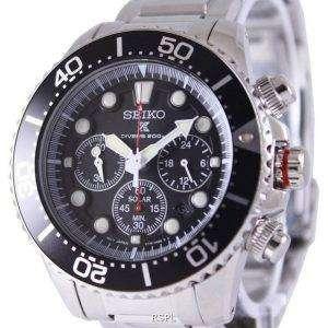 Reacondicionado Seiko Prospex Diver&#39,s Solar Chronograph SSC015 SSC015P1 SSC015P 200M Reloj para hombre