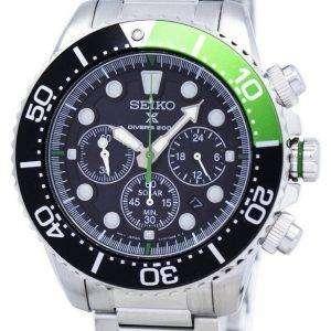 Reacondicionado Seiko Prospex Diver&#39,s Solar Chronograph SSC615 SSC615P1 SSC615P 200M Reloj para hombre