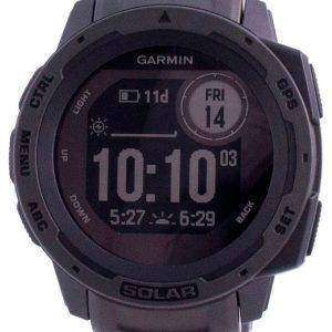 Garmin Instinct Solar Graphit Outdoor Fitness GPS Schwarzes Band 010-02293-00 Multisport Uhr