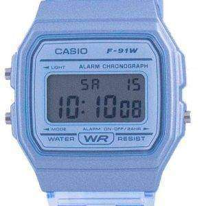 Casio Jugend Blue Resin Digital F-91WS-2 F91WS-2 Unisex Uhr