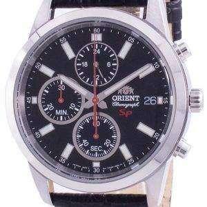 Orient Sportlicher Chronograph Schwarzes Zifferblatt Quarz FKU00004B0 Herrenuhr