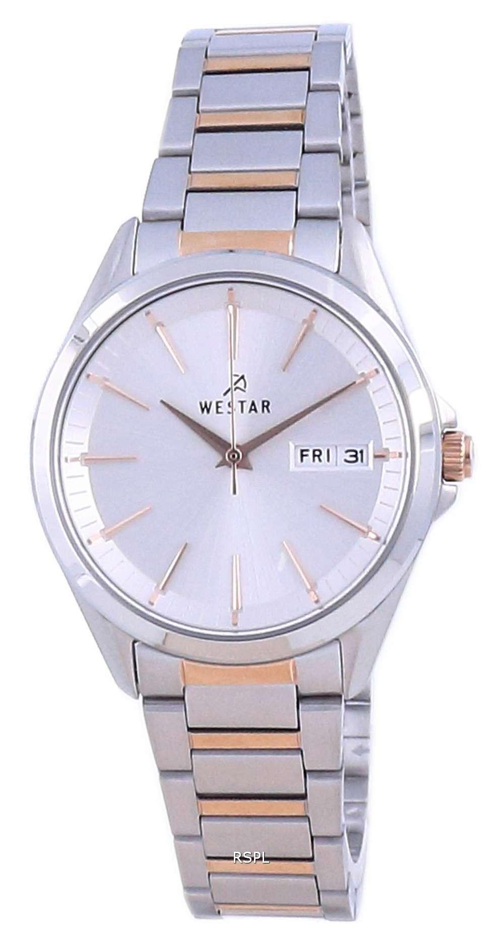 Westar Silver Dial Two Tone Stainless Steel Quartz 40212 SPN 607 Reloj para mujer