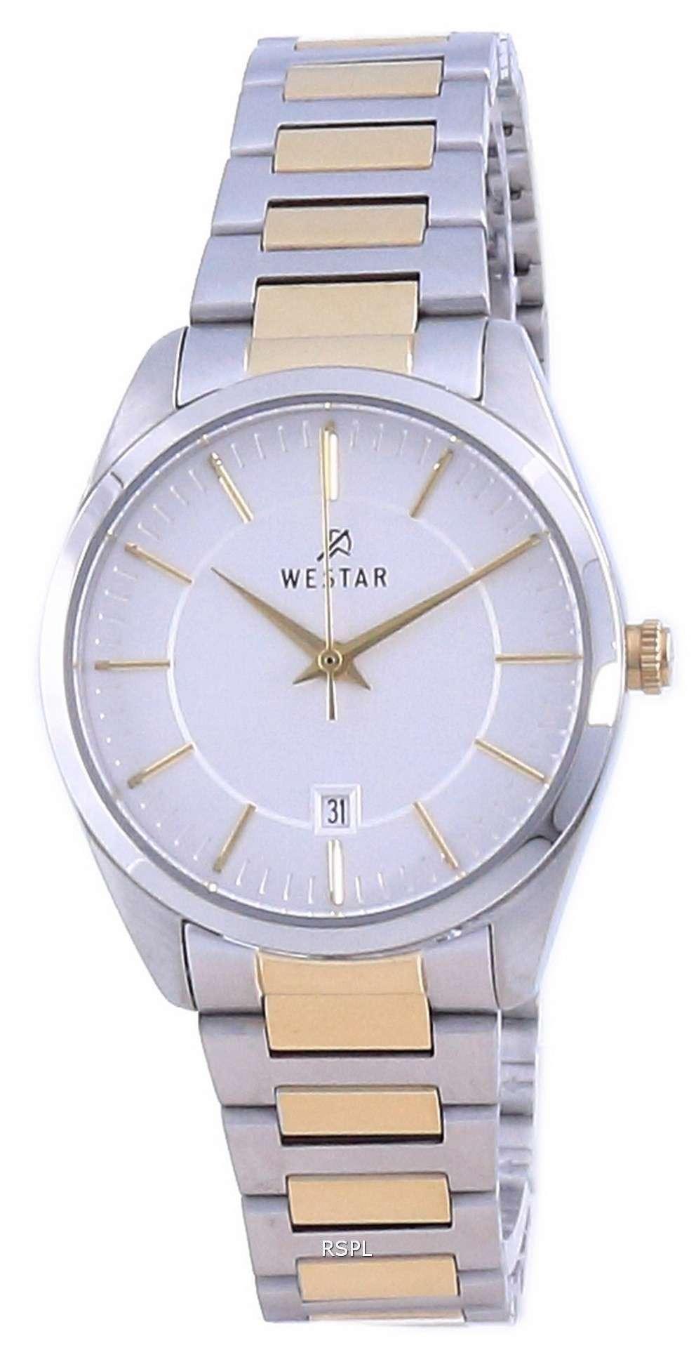 Westar Silver Dial Two Tone Stainless Steel Quartz 40213 CBN 107 Reloj para mujer